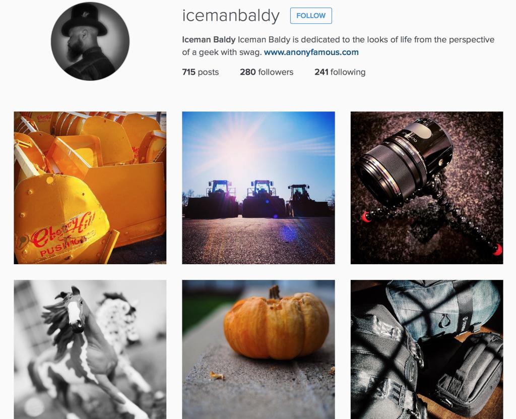 Iceman Baldy Instagram